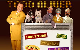Todd Oliver and his funny dog
